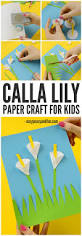 calla lily paper craft flower craft ideas easy peasy and fun