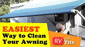 How To Clean Rv Awning How To Clean Dirt And Mildew Off Of Your Rv Awning Youtube