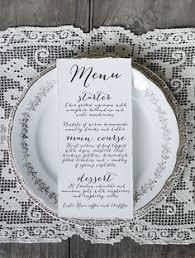 wedding menu sles wedding reception menu and thank you card combo wedding menu