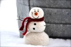 snowman diy kit needle felting kit snowman kit christmas