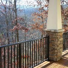 westbury tuscany series aluminum stair railing in bronze fine