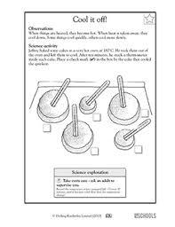 1st grade 2nd grade kindergarten science worksheets cool it off