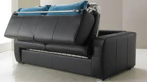 canape convertible noir et blanc canapé lit en cuir 2 places couchage 120 cm tarif usine italie