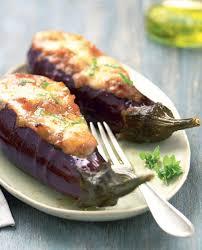 cuisine des aubergines recette aubergines farcies à la mozzarella