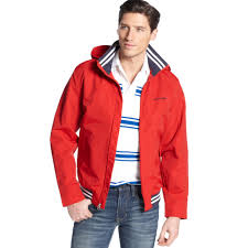 tommy hilfiger regatta jacket in red for men lyst