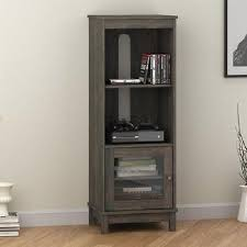 glass cabinet doors for entertainment center bookcase audio pier media tower entertainment center with glass