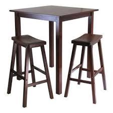 high pub table set winsome wood parkland 3 pc square high pub table set with 2 saddle