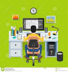 designer freelancer graphic designer or illustrator working on desktop freelancer