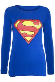 womens ladies superman batman cap long sleeves t shirt sweatshirt