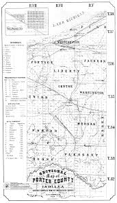 County Maps Of Ohio by Porter County Indiana Genweb Maps
