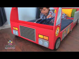 kidkraft fire truck toddler bed at boohoobaby youtube