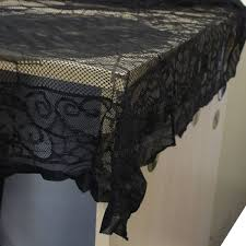halloween table cloth gothic black lace table cloth desk cover halloween decor at