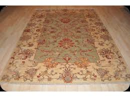 light muted color vegetable dyed rug persian design handmade hand