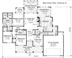 master up floor plans craftsman style house plan 3 beds 2 00 baths 2244 sq ft plan 51 510