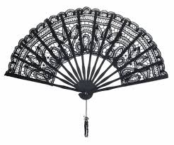lace fans 11 black folding lace fan for weddings on sale
