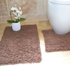 Chocolate Brown Bathroom Rugs by Tony U0027s Textiles Heavy Twist Bath Mat Rug Set From 100 Cotton