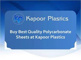 buy best quality polycarbonate sheets at kapoor plastics