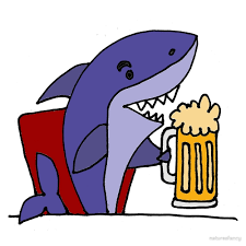funny beer cartoon cool funky funny shark drinking beer