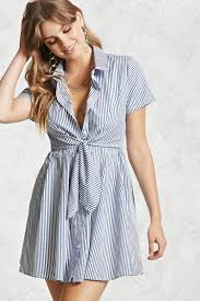 pinstripe shirt dress forever 21 2000106373