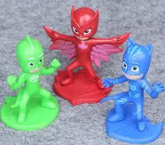 3pcs 9 5cm pj masks toy mini figure plastic vinyl doll
