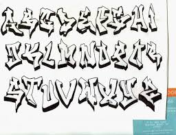 graffiti alphabet block letters a z 3d graffiti art