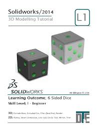 3 solidworks tutorial dice 2 d computer graphics mirror