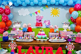 peppa pig decorations peppa pig party table peppa party pig party pig