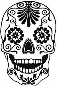 advanced embroidery designs sugar skull