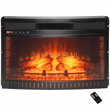 26 in freestanding curved electric fireplace insert heater with