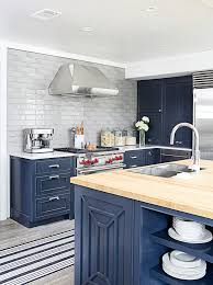 Navy Blue Kitchen Cabinet Color Benjamin Moore Raccoon Fur - Blue painted kitchen cabinets