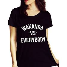 fan made t shirts wakanda vs everybody funny black panther inspired fan made tee