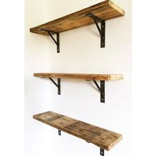 Wood Shelves Images by Reclaimed Pallet Wood Shelf Shelving With Welded Steel Brackets