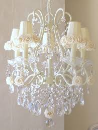 shabby chic chandelier shades shabby chic chandelier with feather