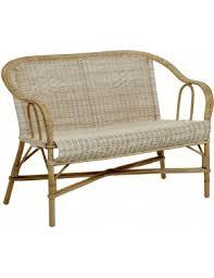 canape en rotin canapés en rotin tressé vintage ou design kok maison