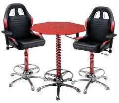Rolling Bar Stool 3 Piece Red Automotive Bar Furniture Car Guy Garage Shop