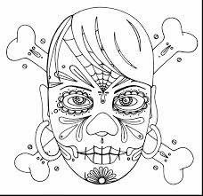 astonishing skulls coloring pages with sugar skull coloring