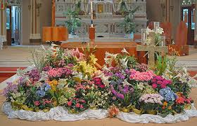 Easter Decorations At Church by Rome Of The West April 2010