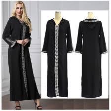 womens hooded abaya maxi prayer long dress dubai kaftan robe arab