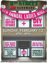 ace hardware annual report ladies night at 5th street ace hardware mount vernon triangle cid