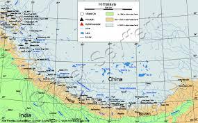 Himalayan Mountains Map Gesamtuebersicht Ueber Den Himalaya