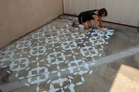 stylish decoration stencils for painting concrete floors how to