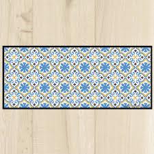 tapis de cuisine tapis cuisine décor bleu ciel