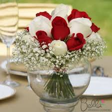 Red Rose Table Centerpieces by Bouquet Red And White Wedding Centerpieces A Beautiful Union