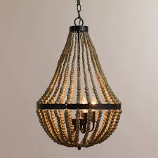 Small Chandeliers Confortable Wood Bead Chandelier On Inspirational Home Decorating