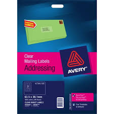 Label Printing Template 21 Per Sheet by Avery Clear Mailing Inkjet Labels J8560 21 Per Sheet Officemax Nz
