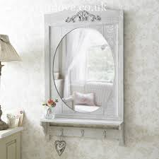Shabby Chic Large Mirror by Large Rustic Mirror With Shelf U0026 Hooks Mirrors Pinterest