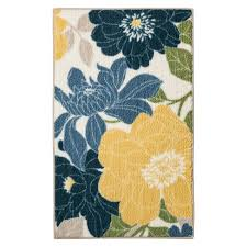 Threshold Kitchen Rug Floral Kitchen Rug Blue Threshold Target