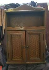 Wooden Spice Cabinet With Doors Vintage Spice Rack Ebay