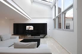 home interior design with black and white color combination with