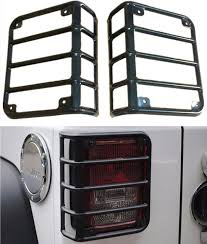 jeep wrangler light covers arrival steel black taillight protector guards cover rear